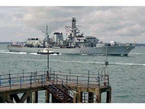 HMS Westminster: Photo credit MOD