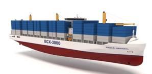 ECX-3800 3800 TEU Feeder Vessel (Image: KNUD E. HANSEN)