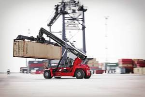 First Gloria reachstackers into Asia