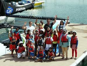 Oman children aboard GACPindar: Photo GAC