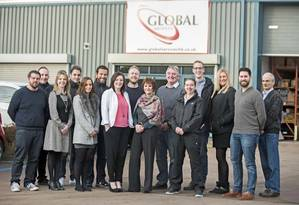 Staff at Globals headquarters in Exeter (Photo: Burgess Marine)