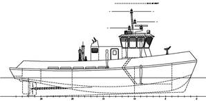 Workboat final profile arrangement.