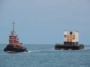 A Google barge: Photo courtesy of Portland Tugboat LLC