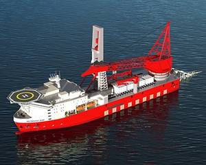 Rendering of the Petrofac JDS 6000 deepwater derrick-lay vessel (courtesy Petrofac)