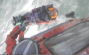 Lake St. Clare rescue: Photo courtesy of USCG
