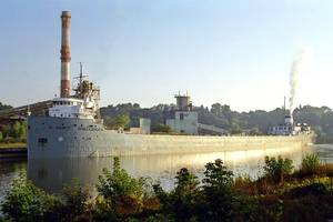 When the cement carrier ST. MARYS CHALLENGER gets underway in April, it will mark the vessels 107th year of service. (Photo: Rod Burdick)