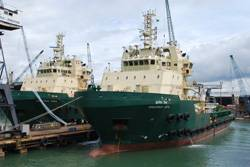 Anchor Handling Tug Supply Vessels Greatship Vidya and Greatship Vimla.