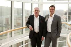 Following the renaming of the Björk.Eklund Group to Greencarrier AB, its founders Stefan Björk (left) and Björn Eklund (right), will continue to hold the positions of Chairman and Chief Executive Officer respectively.