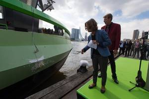 LNG Greenrhine christening: Photo courtesy of Peters Shipyard