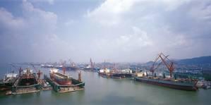 Guandong China shipyard: Photo courtesy of COSCO