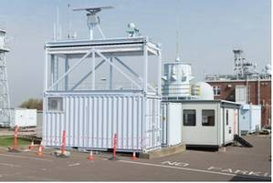 HGH's Spynel-S 3500 as seen above, top right on top of container, on the integrated, mobile C2S system from Qinetiq (Photo: HGH)