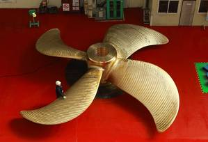 HHI's 5,000th Propeller. Photo: Hyundai Heavy Industries