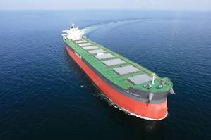 First of Six 208,000 dwt bulk carrier HHI built