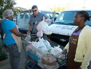 Christmas Food Donations: Photo credit HII