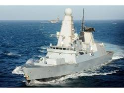 HMS Daring: Photo credit UK MOD