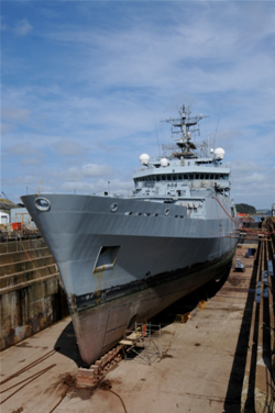 HMS Echo: Photo credit A&P Falmouth