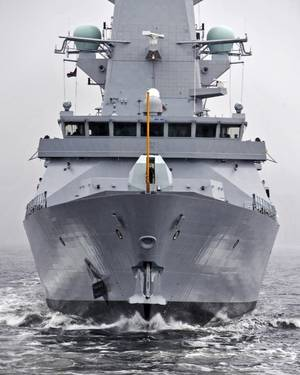 HMS Duncan: Photo courtesy of MOD