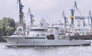 LNG-fueled KV BARENTSHAV, a Norwegian Coast Guard vessel.