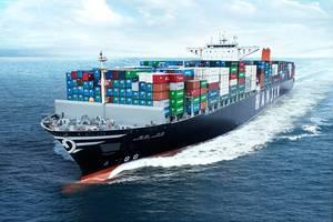 File Image: A Hanjin boxship underway (credit: Hanjin)