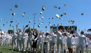 Hat Toss1s Courtesy USMMA