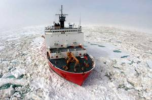 Built by Ingalls in 1999, USCGC Healy is the U.S. newest icebrekaer (Photo: USCG)