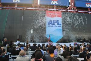 APL Savannah naming: Photo credit APL