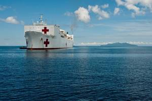 USNS Mercy: Photo credit USN