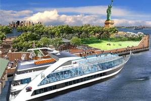 Artist rendering of the Hornblower Hydrogen Hybrid (H3) (Image courtesy Statue Cruises)