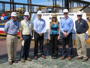 Kevin Graney, Pete Radzicki, Parker Larson, Debora Burke, Dave Burke and Tom Denning (Photo: General Dynamics NASSCO)