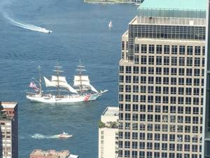 Coast Guard Cutter Eagle sails into New York, Thursday, August 4 (Photo: Jeff OMalley)