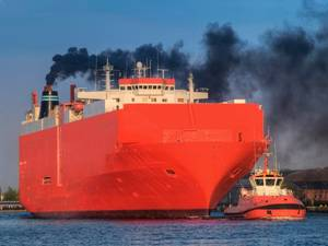 Emissions from shipping. Photo courtesy: HZG