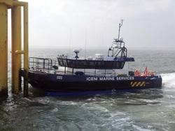 Windfarm Support Ship Iceni Pride: Photo courtesy of South Boats
