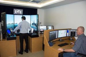 Halul staff getting familiarized with the new simulator (Photo: Halul Offshore Services Company)