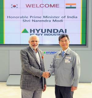 Indian Prime Minister Narendra Modi at HHI (Photo: HHI)