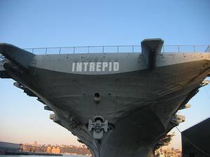 The Intrepid will make its way back to Pier 86 in Manhattan.  Photo credit:  Jennifer Rabulan