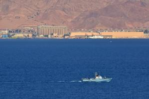 An Israeli Navy boat patrolling in the Gulf of Eilat Israel (AdobeStock 067097)