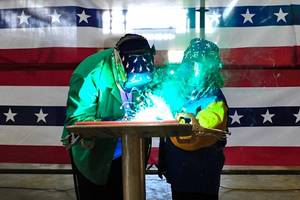 JHSV 4 Welder, Austal USA Employee Doc Selvie and  Authenticator, Diane Patrick