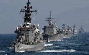 Japans Maritime Self-Defense Force (MSDF) ships. Photo: Japan Navy