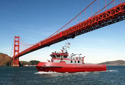 Depiction: Jensen Design Custom Super Pumper Fireboat