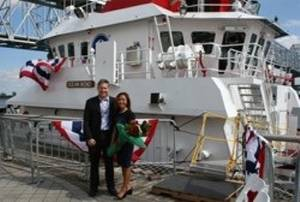 Ray Martus with his wife Trish Martus: Photo courtesy of Jensen Maritime