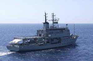 Royal Australian Navy (RAN) survey ship HMAS Melville located the submerged aircraft (File photo: Royal Australian Navy)