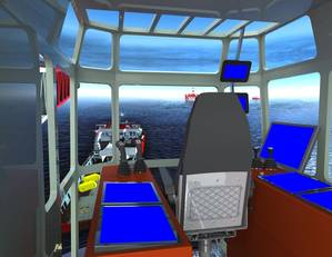 The K-Sim Offshore simulator will feature detailed models of three HMC deepwater construction vessels.