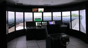 Polaris ship's bridge simulator for The Instituto Mexicano del Transporte (IMT).