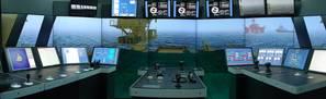 Kongsberg Offshore Vessel Simulator at Lerus Training Center.