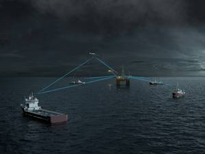 MBR connects all vessels in complex offshore operations. (Photo: Kongsberg)