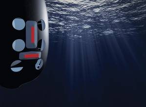The SA9510S sonar detects mines, obstacles and the sea-floor in. (Image: Kongsberg Maritime)
