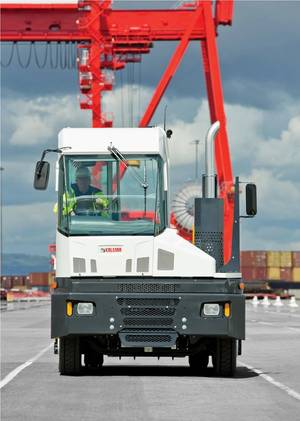 Kalmar T2 terminal tractor earlier was introduced for for the European market (Front) Photo Kalmar