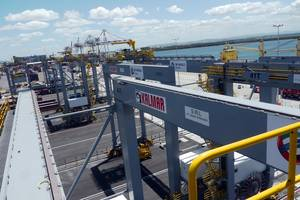 Kalmar automatic stacking cranes at DP World Brisbane