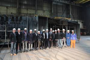 Keel-laying ceremony for RoPax Ferry (Photo: Damen Shipyards Group)