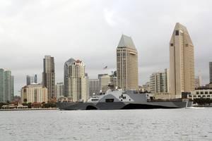 LCS Freedom off San Diego: Photo credit USN